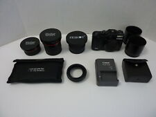 Canon Powershot G12 10Mp Digital Camera Lens and Filters