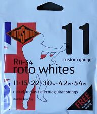 Rotosound R11-54 RotoWhites Electric Guitar Strings Gauge 11-54 - Made in the UK