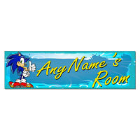 Personalized & Custom Printed Sonic the Hedgehog Bedroom Poster Banner Decor