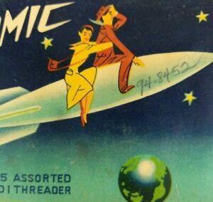 Atomic 1950s Vintage Sewing Needles Gold Eye Mid Century Modern MCM Rocket