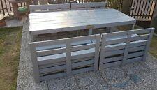 Tavoli con panche e schienali con Pallet Bancali EUR  EPAL arredamento 2,40 mt