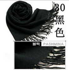 Fashion Women Winter soft Cashmere Silk Solid Long Pashmina Shawl Wrap Scarf UK