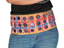 Belly Dance Attire - Vintage Large Mirror Indian Tribal Cotton Belt