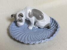 Coupe porcelaine chien bulldog Copenhagen porcelain