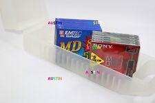 SONY & BASF  MINIDISCS 10 NEW BLANK DISC'S WITH STORAGE CUBE.....