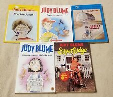 Lot of 5 JUDY BLUME Childrens Chapter Books FUDGE Iggie's House FRECKLE JUICE PB