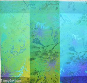2 x A4 Sheets Blue Fern, Mauve fern or Green fern Vellum 112gsm NEW