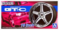 Aoshima 54611 Tuned Parts 70 VOLK RACING GT-C 19inch Tire & Wheel Set