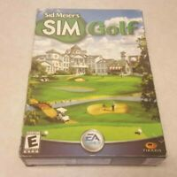 SIM Golf Sid Meier BOX Complete PC CD-ROM Game Manual Case Inserts Serial Key