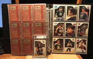 1985-86 Topps Hockey Complete Set Including Beckett 7.5 Mario Lemieux Rookie