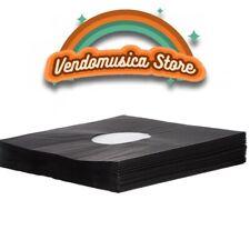 "10 x Record Inner Sleeve Black  for Vinyl 12"" with Internal Antistatic Bag"