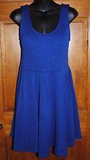 S.H.E.  Flirty Short Royal Blue Dress Sleeveless with Keyhole Back NWT - Size M