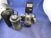 Vintage 35MM Minolta Camera SRT 102 with extras