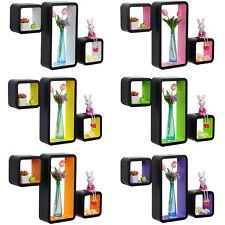 Wandregal 3er Set Bücheregal Hängeregal CD Cube MDF Regal Holz Farbwahl #535
