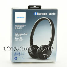Philips SHB6250/27 On-Ear Wireless Bluetooth NFC Headphones Headset w/Mic Black