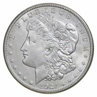 Choice AU/UNC 1921-S Morgan Silver Dollar Last Year of Issue - Great Luster