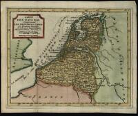 Netherlands United Provinces Low Countries Nederland 1786 miniature antique map