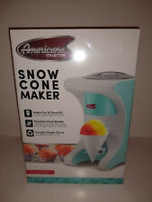 Shaved Ice Machine Snow Cone Maker Americana Collection Teal Factory Sealed