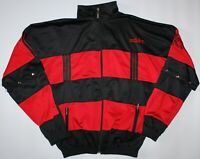 Adidas Germany Away Vintage Poppers Jacket - Small S - Black & Red - Mens Kruger