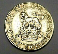 1916 GB Shilling KING GEORGE V .925 SILVER  KM# 816