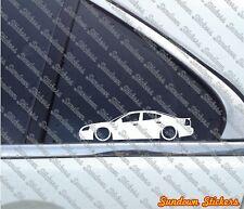 2X Lowered car outline stickers - For Pontiac Grand Prix (2004-2008) 7th gen