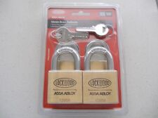 LOCKWOOD 50MM BRASS PADLOCKS ( PACK OF FOUR ) Free shipping