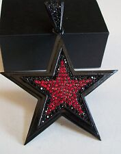 Black/Red Finish With Red/Black CZ Hip Hop Bling Fashion STAR Pendant