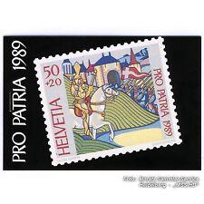 Schweiz 1989: Pro Patria Vorläufer-Markenheftchen, MICHEL-Nr. 0-IV b, postfrisch