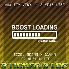 BOOST LOADING VINYL STICKER (30cm, White) JDM HOON CAR WINDOW DECAL FUNNY STANCE
