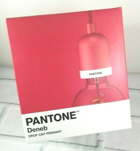 PANTONE Deneb Drop Cap Pendant Light, Red