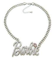 "New Barbie Pendant 9mm 18"" Cuban Link Chain Necklace"