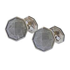 New David Yurman Sterling Silver Meteorite Cufflinks