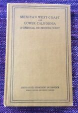 Vintage Book Mexican West Coast & Lower California Survey Maps US Dept Commerce