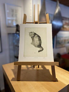 Walter Herzog Radierung/Grafik  ''Katze IV''