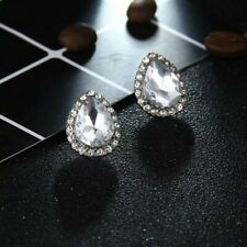 Beautiful Silver Plated Cubic Zirconia Crystal Stud Earrings