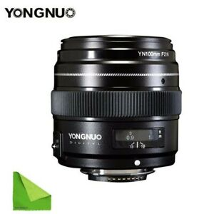 YONGNUO YN100mm F2N AF/MF Medium Telephoto Prime Lens for Nikon DSLR Camera