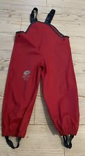 Seasons Red Blue Waterproof Dungarees Trousers Adjustable Straps 5-6 110-116
