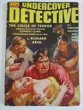 Undercover Detective #1  December 1938  Circle of Terror! Scarce Pulp Magazine.