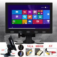 "Mini 7"" LCD HD Monitor Bildschirm AV VGA HDMI Input for CCTV PC DSLR RaspberryPI"