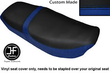 R BLUE & BLACK VINYL CUSTOM FOR HONDA CB 650 SC NIGHTHAWK 82-85 DUAL SEAT COVER