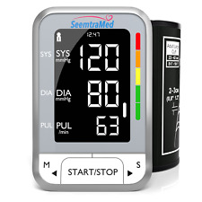 Blood Pressure Monitor Upper Arm - Digital BP Machine with Large Cuff (22-42cm)