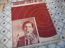 Johnnie Ray Somebody Stole My Gal 1946 Photo Sheet Music