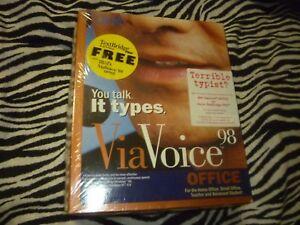 IBM ViaVoice Executive Edition 98 / Text Bridge Pro 98 - NEW!!!
