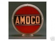 Amoco Gas Pump Globe Sign Red White Glass Lenses Gas Oil Filling Station Decor A