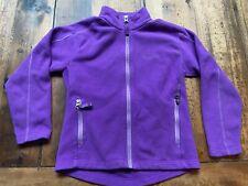 Girls Marmot Purple 100% Polyester Fleece Jacket Zipper - Size M 8-9
