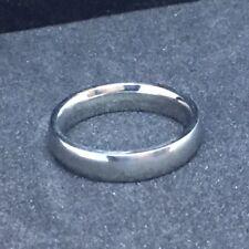 18k White Gold Filled Smooth Wide Polished Wedding Ring Band Sz6 🇺🇸 US SELLER