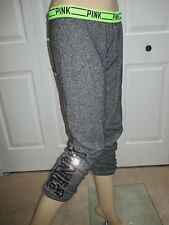 Victoria's Secret PINK Bling Sequin Gym Pants Grey Marl Cozy Knit Sweatpants- XS