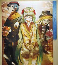 NEW LICENSED Anime VOCALOID Hatsune Miku KAITO Len Fall Classic Poster 16.5x20