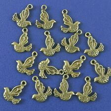 20pcs antiqued bronze little flying bird design pendant charm G985