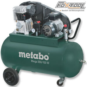 Metabo Druckluft Kompressor Mega 350-100W 230Volt-10bar-90Liter-320l/min 6015380